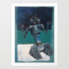 Johnny5 and Rothko Art Print
