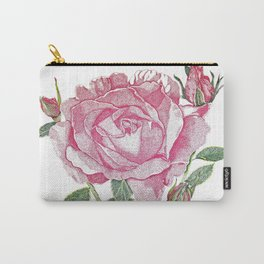 Queen Elizabeth Rose with Buds Carry-All Pouch
