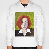 dana scully Hoodies featuring Dana Scully: Xfiles by Cameron Tyme Edison