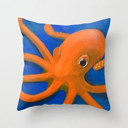 Content as an Octopus Throw Pillow