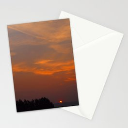 Red Rising Sun Stationery Cards