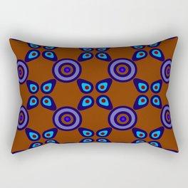 Terracotta Navy Rectangular Pillow
