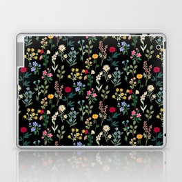 Spring Botanicals Black Laptop & iPad Skin