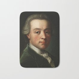 Wolfgang Amadeus Mozart (1756 -1791) portrait Bath Mat