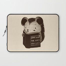 Hedgehog Book Don't Hurt The Ones You Love Laptop Sleeve