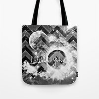 forever young Tote Bags featuring forever young by haroulita