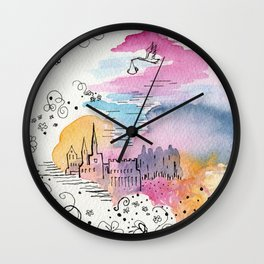 The arrival of the baby boy Wall Clock