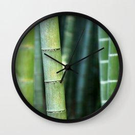 Relaxing Bamboo Wall Clock