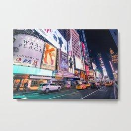 New York Neon Jungle Metal Print