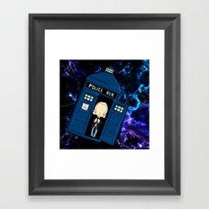 Tardis in space Doctor Who 1 Framed Art Print