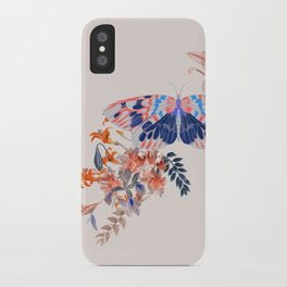 Exotic Collage Butterfly Jungle iPhone Case