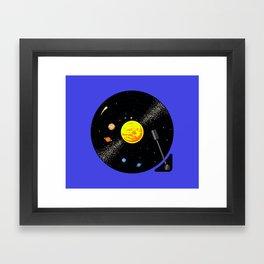 Solar System Vinyl Record Framed Art Print