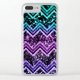 Unicorn Glitter Chevron #4 #shiny #decor #art #society6 Clear iPhone Case