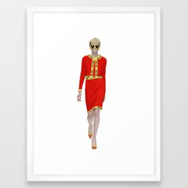 Runway Moschino Girl McDonalds Framed Art Print