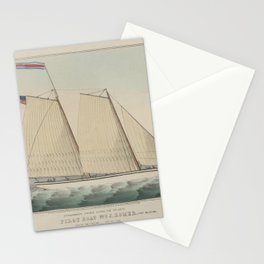 Extraordinary Express Across the Atlantic – Pilot Boat William J. Romer, Captain McGuire, Leaving fo Stationery Cards