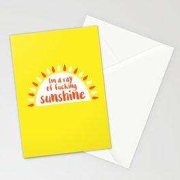 I'm A Ray of Fucking Sunshine Stationery Cards