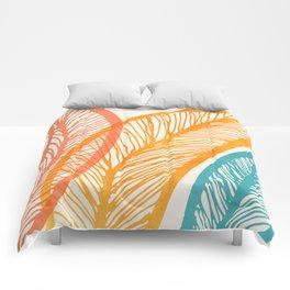 Tropical Flora - Retro Palette Comforters