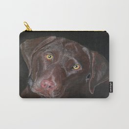 Inquisitive Chocolate Labrador Carry-All Pouch