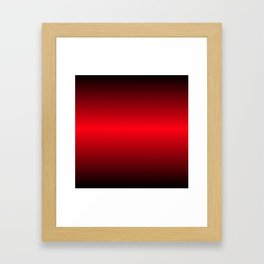 Red and Black Gradient Colors Framed Art Print