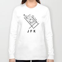 jfk Long Sleeve T-shirts featuring JFK Airport Diagram by vidaloft