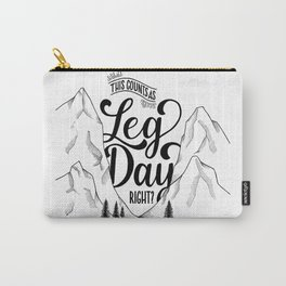 Leg Day b&w Carry-All Pouch