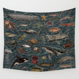 Sea & Ocean Life Maritime Pattern Wall Tapestry