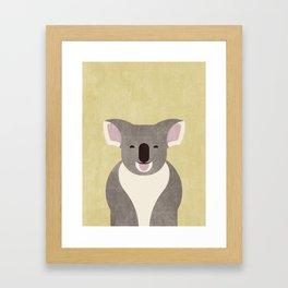 FAUNA / Koala Bear Framed Art Print