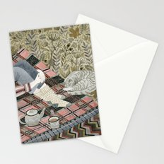 Autumn picnic with my cat Stationery Cards