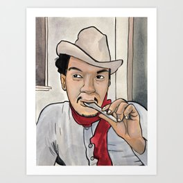 Cantinflas Takes a Spoonful Art Print