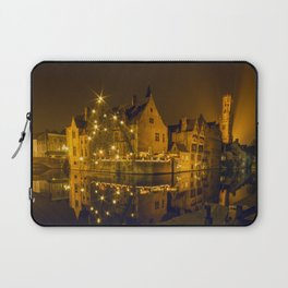 Night at Brugge Laptop Sleeve