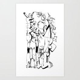 Hunter - b&w Art Print