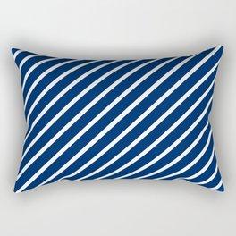 Navy Tight Stripes Rectangular Pillow
