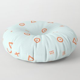Happy Particles - Light Green Floor Pillow