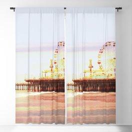 Santa Monica Pier Sunrise Blackout Curtain