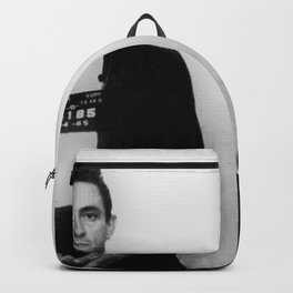 Johnny Cash Mug Shot Country Music Fan Backpack