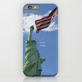 I Don't Kneel iPhone Case