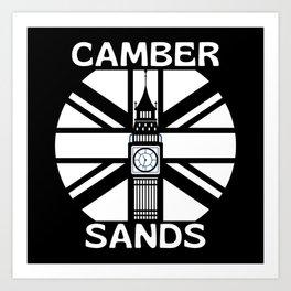Camber Sands  United Kingdom Big Ben Art Print