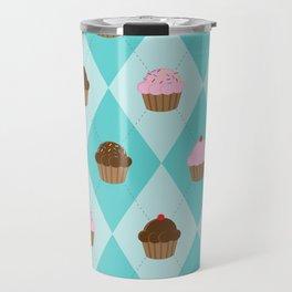 Argyle Cupcakes Travel Mug