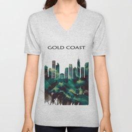 Gold Coast Skyline Unisex V-Neck