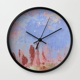 Standing Stone Circle in Pastels Wall Clock