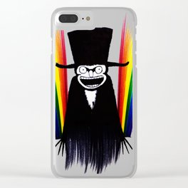 Babadook Gay Pride Clear iPhone Case