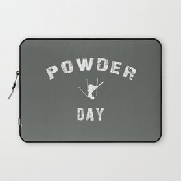 Powder Day Grey Laptop Sleeve