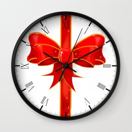 Pretty Ribbon Bow Wall Clock
