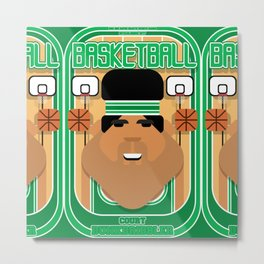 Basketball Green - Court Dunkdribbler - Seba version Metal Print