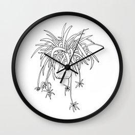 Spiderplant Wall Clock