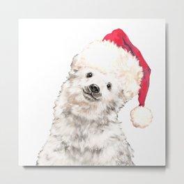 Christmas Baby Polar Bear Metal Print