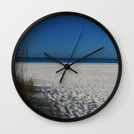 A Peaceful Day At A Marvelous Gulf Shore Beach Wall Clock