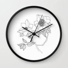 Magnolia Flowers - Sacred Nature Wall Clock