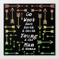Go Your Own Way Canvas Print