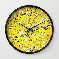 cartoon Wall Clocks featuring Cartoon by Javier Martinez